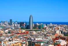 Panorama van Barcelona, Spanje Royalty-vrije Stock Foto's
