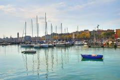 Panorama van Bari Puglia Italië stock afbeeldingen