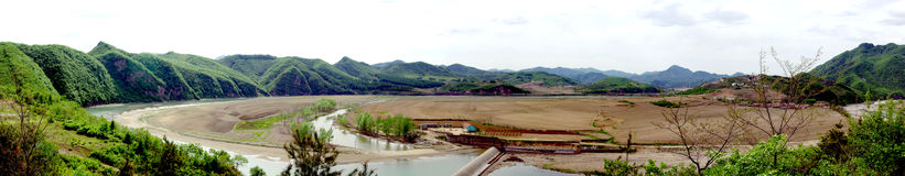 Panorama van berg Stock Foto
