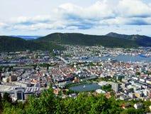 Panorama van Bergen Stock Foto