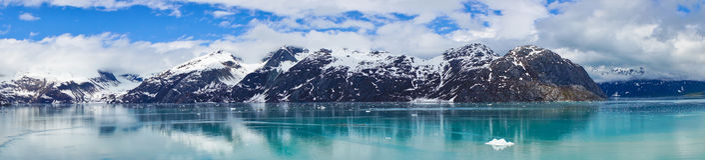 Panorama van Bergen in Alaska, Verenigde Staten stock foto's