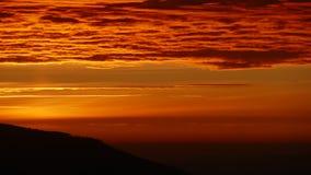 Panorama van bergen bij zonsopgang De zuidelijke helling van Ra ³ Polen, Europa van Babia GÃ stock fotografie
