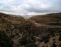 Panorama van bergen en vallei bij de Streek van Debub Misraqawi, makale, Tigray, Ethiopië royalty-vrije stock afbeeldingen