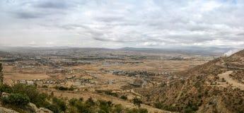 Panorama van bergen en vallei bij de Streek van Debub Misraqawi, makale, Tigray, Ethiopië stock fotografie