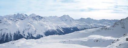 Panorama van bergketen Royalty-vrije Stock Afbeelding