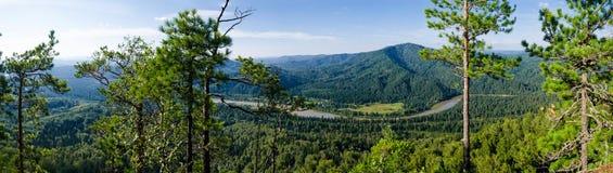 Panorama van bergrivier Stock Afbeelding