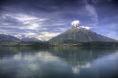 Panorama van Bernese Alpen, Zwitserland Stock Afbeeldingen