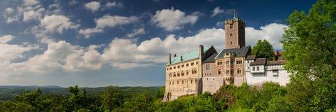 Panorama van beroemd Wartburg - een plaats van de werelderfenis stock afbeelding