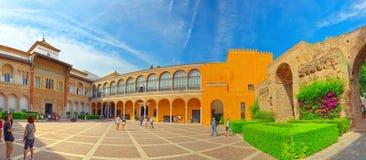 Panorama van binnenterras Patio DE La Monteria van Koninklijk royalty-vrije stock afbeeldingen