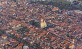 Panorama van Bistrita, Roemenië, Europa royalty-vrije stock afbeelding