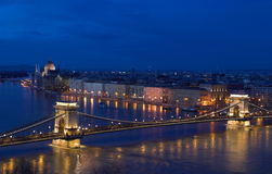 Panorama van Boedapest Stock Afbeeldingen