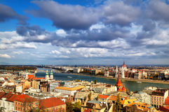 Panorama van Boedapest Royalty-vrije Stock Foto's