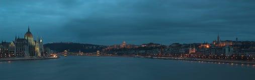 Panorama van Boedapest Royalty-vrije Stock Fotografie