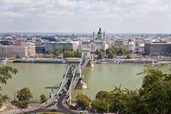 Panorama van Boedapest Royalty-vrije Stock Afbeeldingen