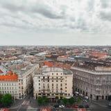 Panorama van Boedapest, Hongarije stock foto's