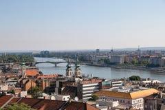 Panorama van Boedapest met de Donau, Boedapest, Hongarije Royalty-vrije Stock Afbeelding