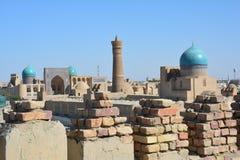 Panorama van Boukhara Oezbekistan Centraal-Azië royalty-vrije stock fotografie