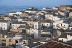 Panorama van Bovino. Apulia. Italië. royalty-vrije stock foto
