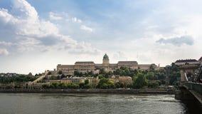 Panorama van Buda Castle - Boedapest, Hongarije royalty-vrije stock foto
