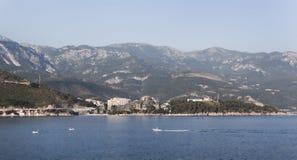 Panorama van Budva Riviera Stock Fotografie