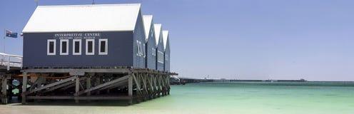 Panorama van Busselton-Pier West-Australië stock afbeelding