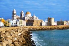 Panorama van Cadiz, Spanje Stock Foto's