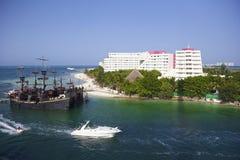 Panorama van Cancun, Mexico stock foto's