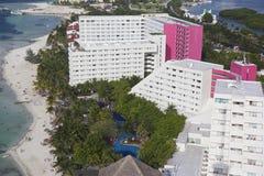 Panorama van Cancun, Mexico stock afbeelding
