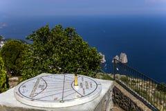 Panorama van Capri-eiland van Monte Solaro, in Anacapri Stock Fotografie