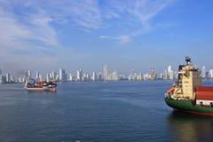 Panorama van Cartajena, Caraïbisch Colombia, stock afbeelding