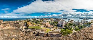 Panorama van Castillo DE San Cristobal Royalty-vrije Stock Foto's