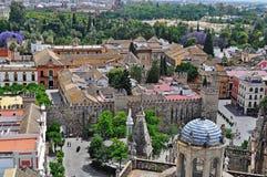 Panorama van centraal Sevilla Spanje Royalty-vrije Stock Foto
