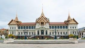 Panorama van Chakri Maha Prasat Hall Royalty-vrije Stock Foto