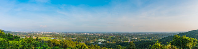 Panorama van Chiang Mai-stad stock afbeeldingen