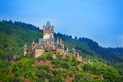 Panorama van Cochem in Duitsland, Europa Royalty-vrije Stock Fotografie