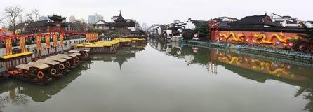 Panorama van Confuciaanse Tempel Stock Fotografie