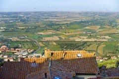 Panorama van Cortona royalty-vrije stock afbeeldingen