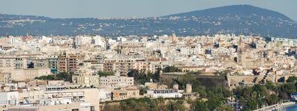 Panorama van de Baai van Palma DE Mallorca Stock Foto's