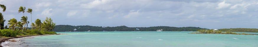 panorama 180 van de Bahamas Royalty-vrije Stock Foto's