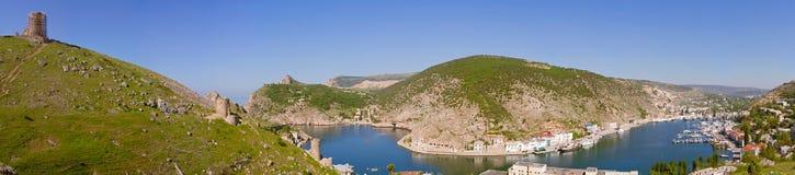 Panorama van de Balaklava-baai Stock Afbeeldingen