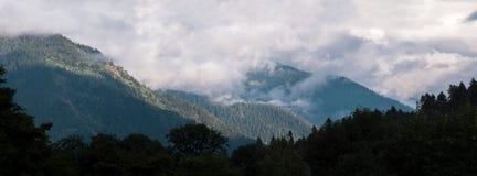Panorama van de bergen Royalty-vrije Stock Foto