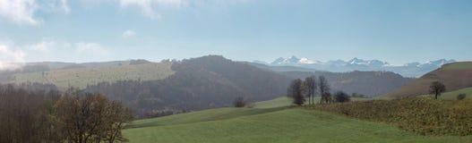 Panorama van de bergen Royalty-vrije Stock Afbeeldingen