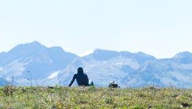 Panorama van de bergen Stock Fotografie