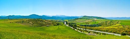 Panorama van de bergen van Cyprus Stock Foto's