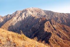 Panorama van de bergen van Westelijk Tien Shan Royalty-vrije Stock Foto's