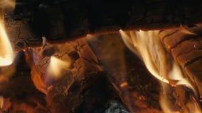 Panorama van de brand langzame motie stock videobeelden