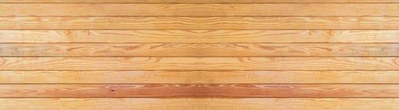 Panorama van de bruine houten achtergrond van de texurevloer stock foto