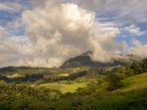 Panorama van de centrale Andes stock foto