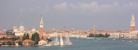 Panorama van de Cruise van Venetië het Mediterrane stock afbeelding