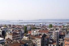 Panorama van de daken van Istanboel Royalty-vrije Stock Foto